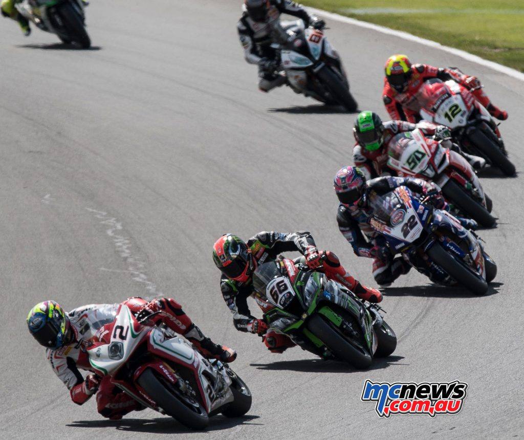 Leon Camier in the lead at Donington