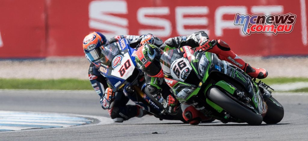 Michael Van Der Mark battled with Tom Sykes at Donington