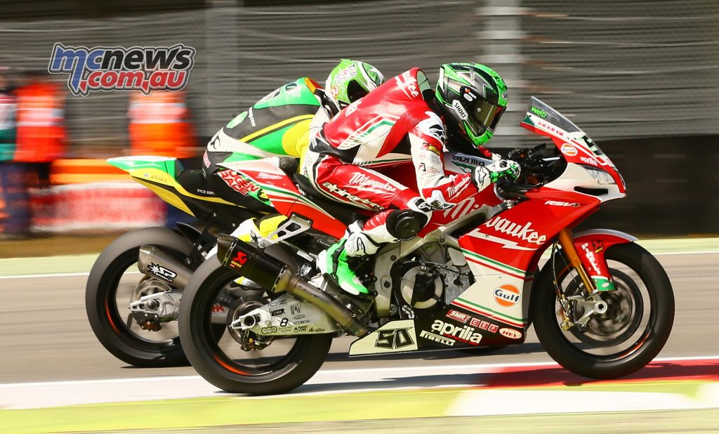 Tyre wear proved a problem for Eugene Laverty who had a strong start to Race 2