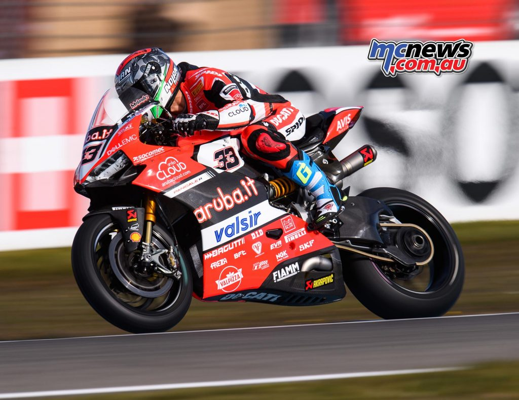 Marco Melandri found the weekend and strong wind conditions challenging