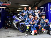 Yamaha VR46 Master Camp - Day Four - Students with the Yamaha YZF-R3