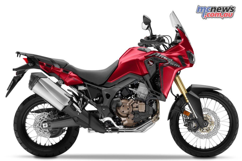 2017 Honda Africa Twin in Candy Prominence Red