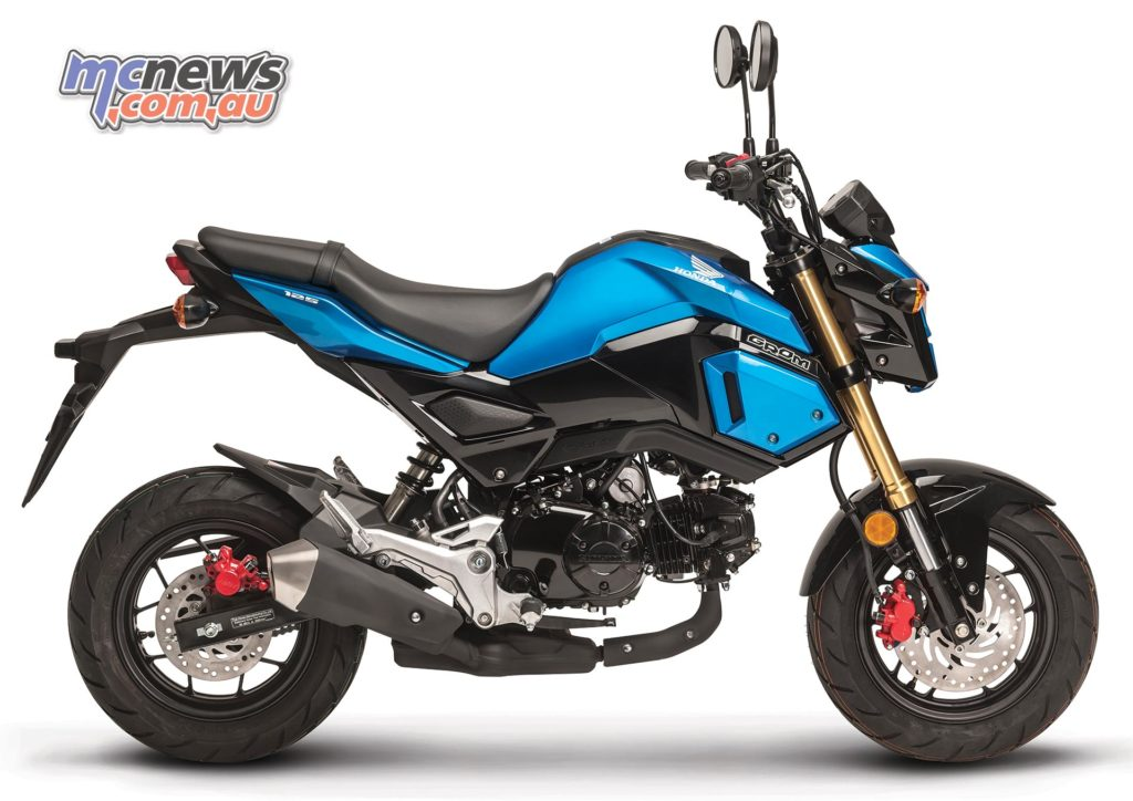 Honda Grom in Candy Caribbean Sea Blue