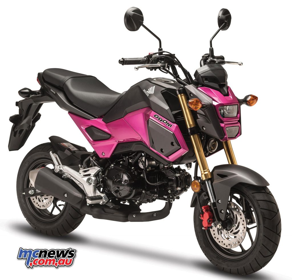 Honda Grom in Candy Ultimate Pink