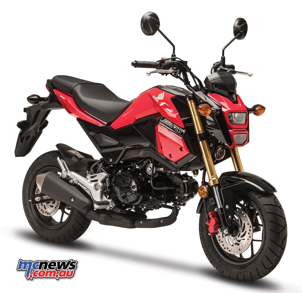 Honda Grom in Pearl Valentine Red