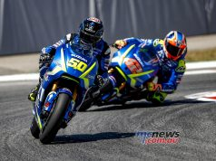 Alex Rins on the Suzuki saw strong results in testing at the same track