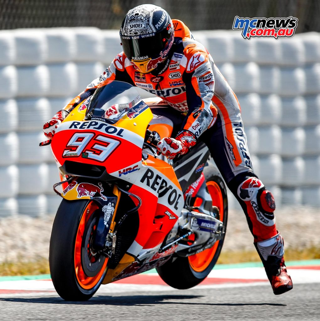 Marquez hasn't shown the same consistency as 2016 this year, but is still capable of taking the top spot