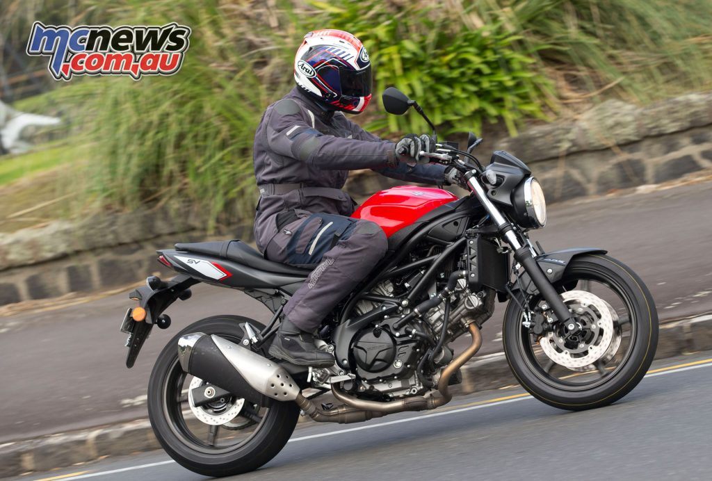 With the SV650 Suzuki has got the damping and spring rates spot on for a variety of rider weights