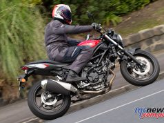 Comfort and the engine are strong points on the SV650
