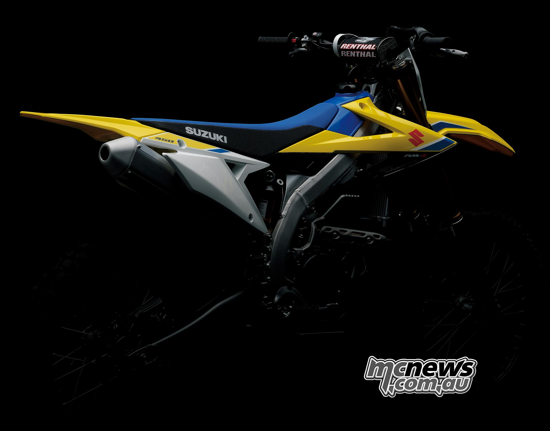 Still distinctly Suzuki the new RM-Z450 features with new team graphics and logos,