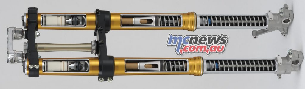 49mm Showa coil-spring fork based on works A-type design replace the previous SFF-Air fork