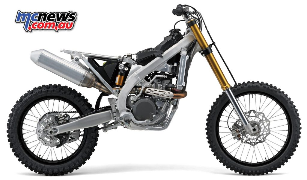 Both the frame and swingarm have seen improvements on the 2018 RM-Z450