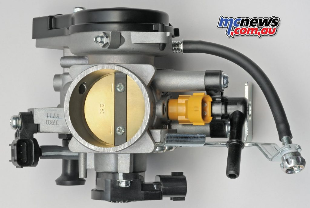 The revised throttle-body provides a more uniform fuel-air mixture