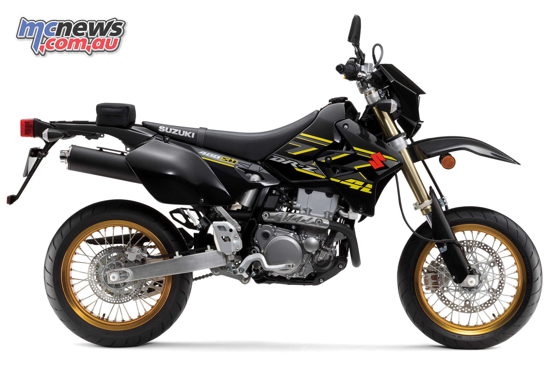 The 2018 Suzuki DR-Z400SM in Solid Black