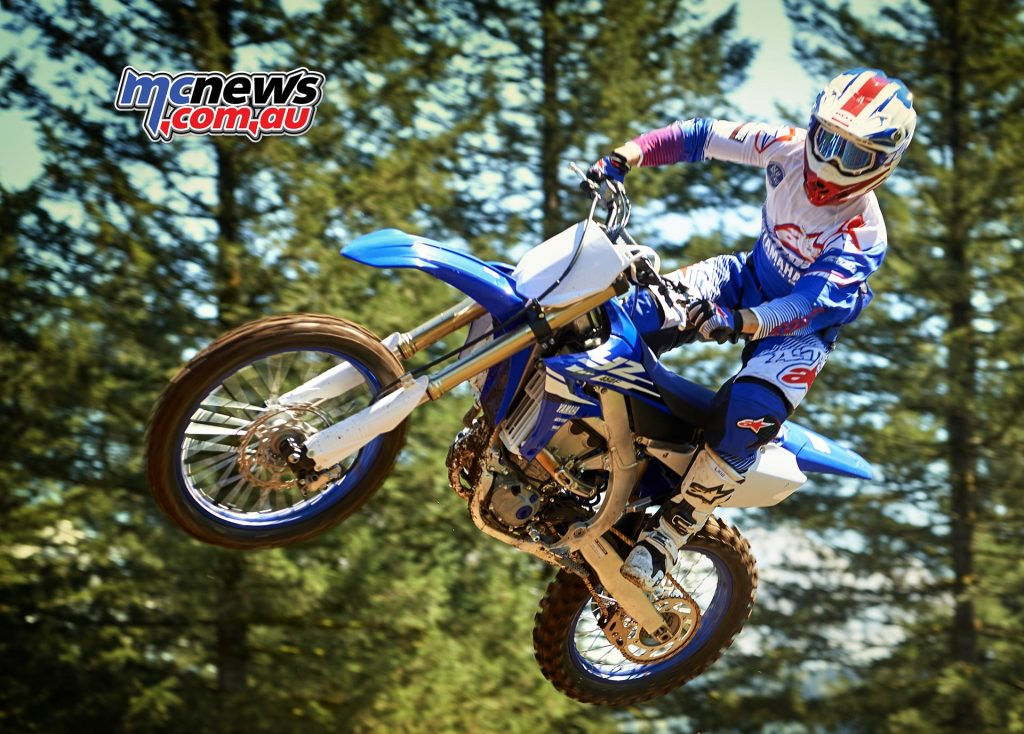 Both transmission and clutch on the new YZ450F have been strengthened