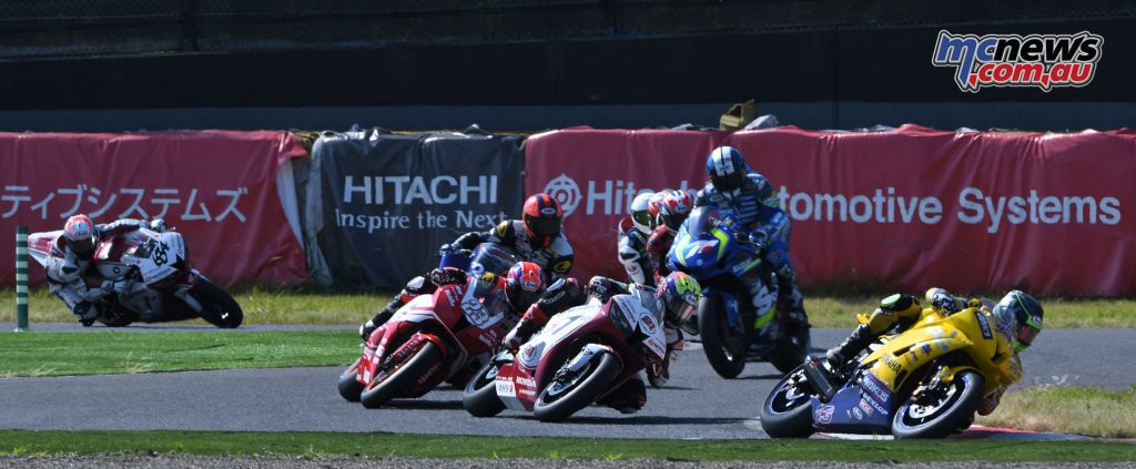 Anthony West leading the SuperSport 600 field
