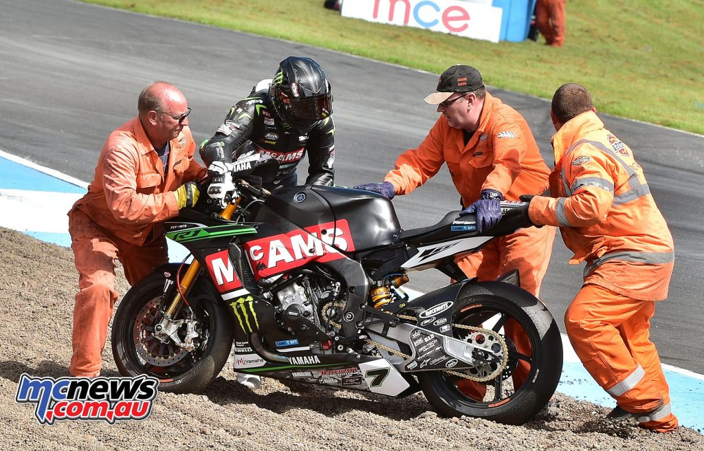 Michael Laverty was another faller - Image by Jon Jessop