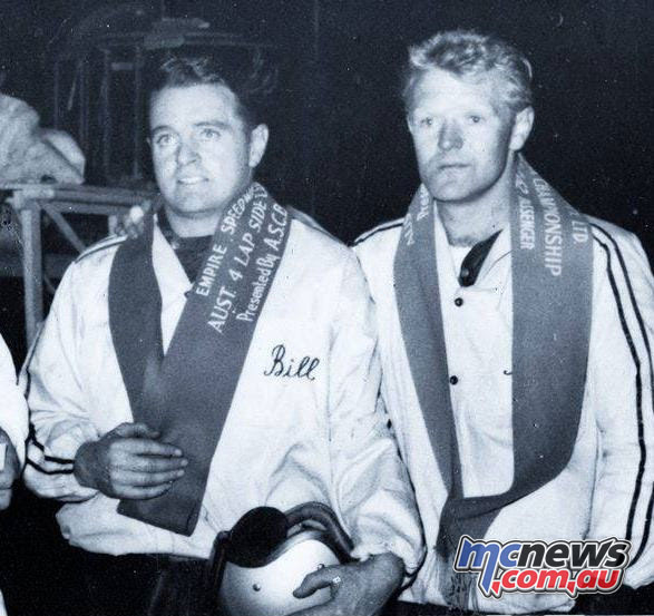 Billy Bingham and Bob Levy - Australian Sidecar Champions - Ekka 1962