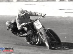 Bob Levy on the Speedway Sidecar