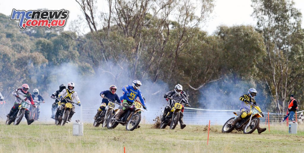 The action out on track at the 2017 Classic Scramble, Ararat
