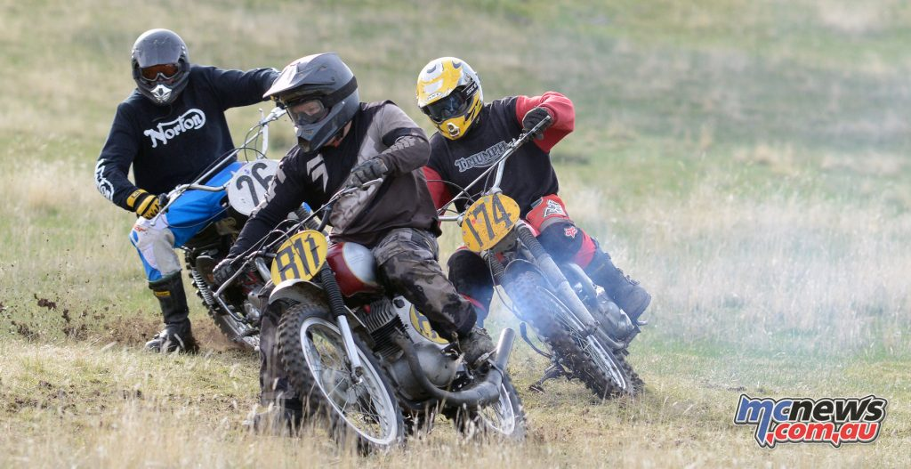 The Classic Scramble at Ararat was held on a private property on the hand cut rural track