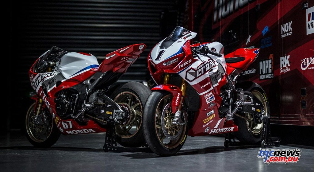 Herfoss and Staring to ride new SP2 at Darwin ASBK