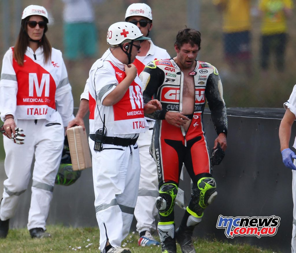 Cal Crutchlow clearly expressed his frustration after being taken out by Dani Pedrosa on the final lap