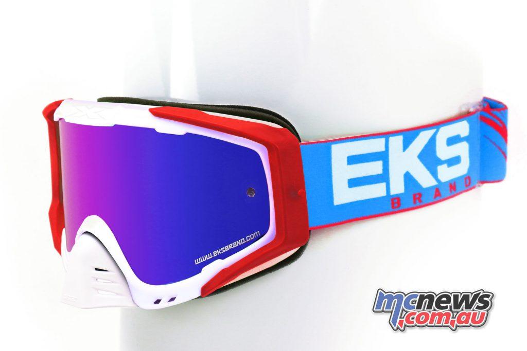 EKS-S Goggles in White/Blue
