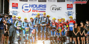 GMT94 Yamaha on the top step, Suzuki Endurance Racing Team second, Honda Endurance Racing third