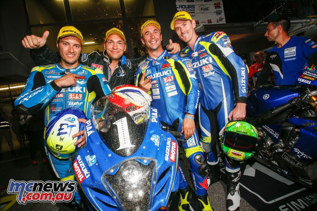 The Suzuki Endurance Racing Team ended up taking the runner up slot and retain a 1-point championship lead