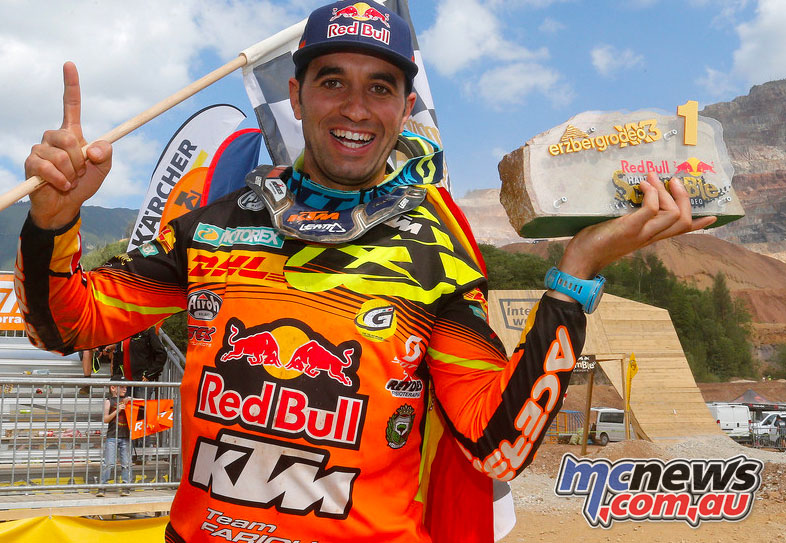 2017 Erzbergrodeo winner Alfredo Gomez (KTM)