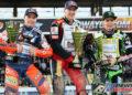 Maciej Janowski topped the Speedway GP podium, Emil Sayfutdinov flanked by Patryk Dudek