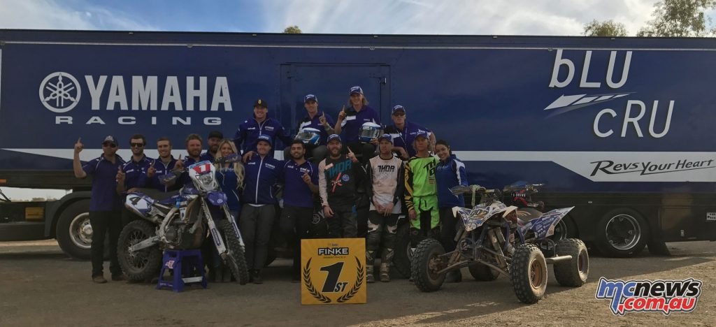 Yamaha Racing with the #1 plate