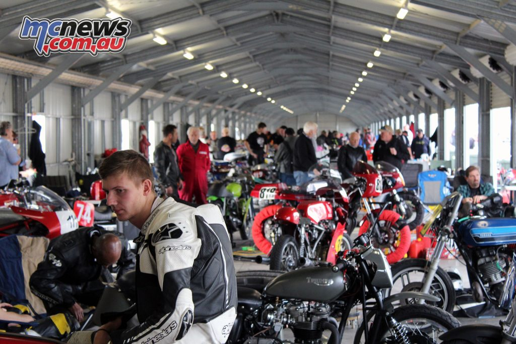 In the pits at the 41st Historic Winton meet