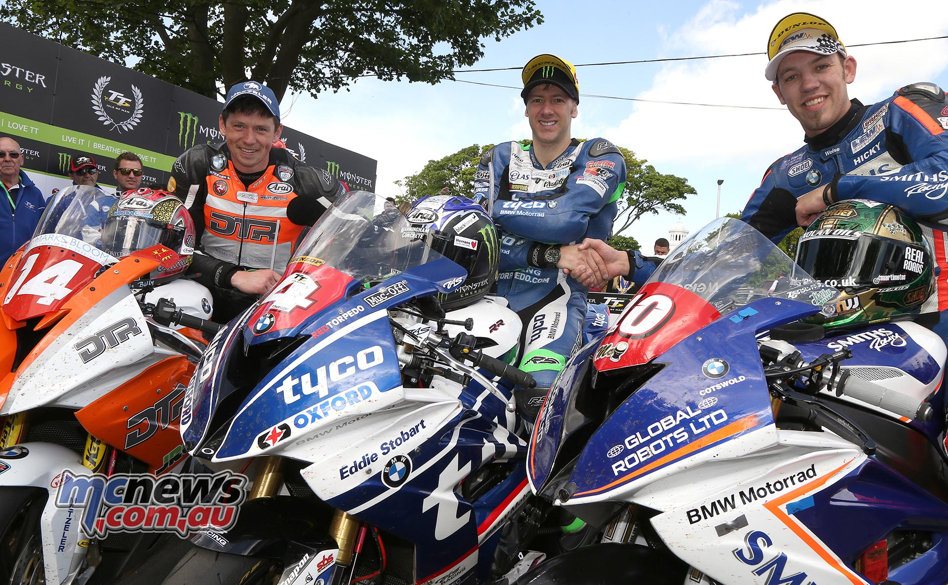 All BMW podium at the 2017 Superstock TT with Ian Hutchinson leading home Peter Hickman and Dan Kneen in third