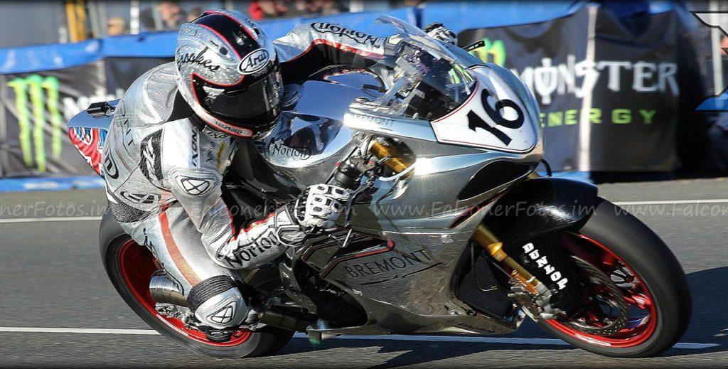 Josh Brookes on the Norton at TT 2017