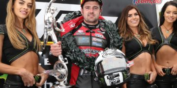 Michael Dunlop after taking Supersport TT victory in 2017