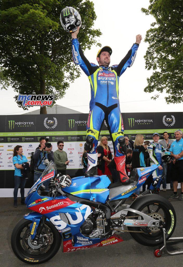 Michael Dunlop wins shortened 2017 Senior TT after Hutchy breaks leg