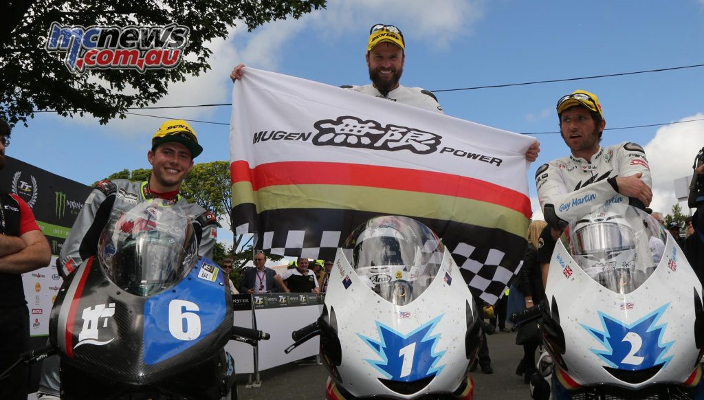 Daley Mathison, Bruce Anstey and Guy Martin, top three in the Zero TT