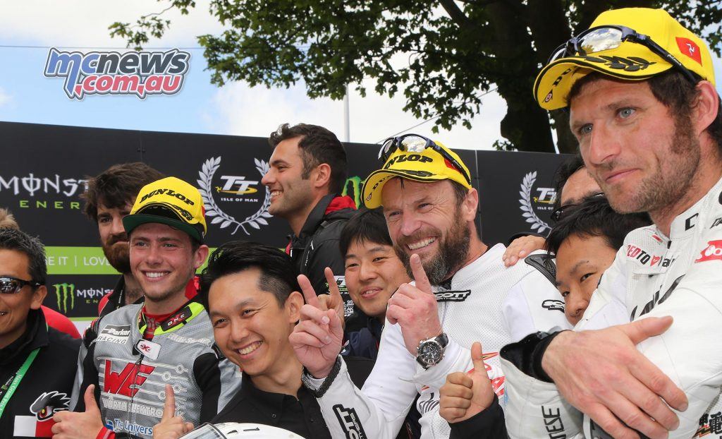 Plenty of smiling faces, with the 2017 Zero TT noteworthy for having all participants finish and Bruce Anstey take top honours