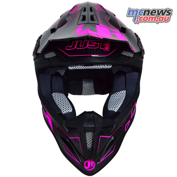 Weighing just 1100g the J12 Carbon Fluro also features the Just1 N.B.F.F. system, or Neck Brace Front Fit