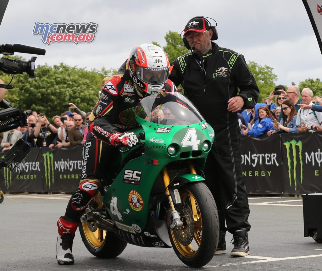 Michael Rutter blasts off the line on the Paton