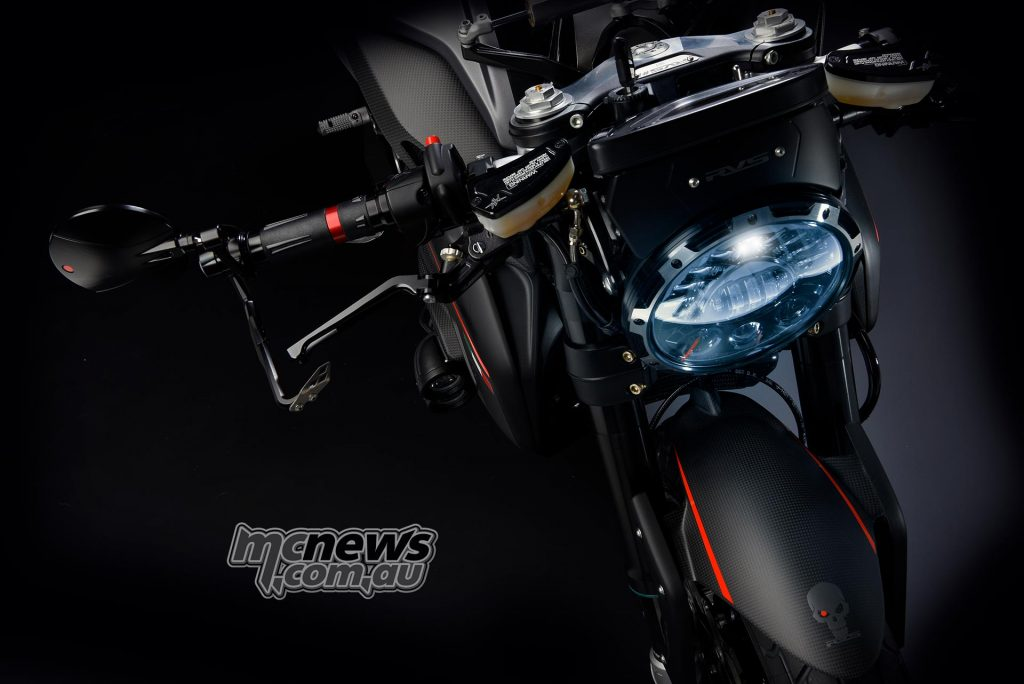 Adaptive LED headlight and front lever protection
