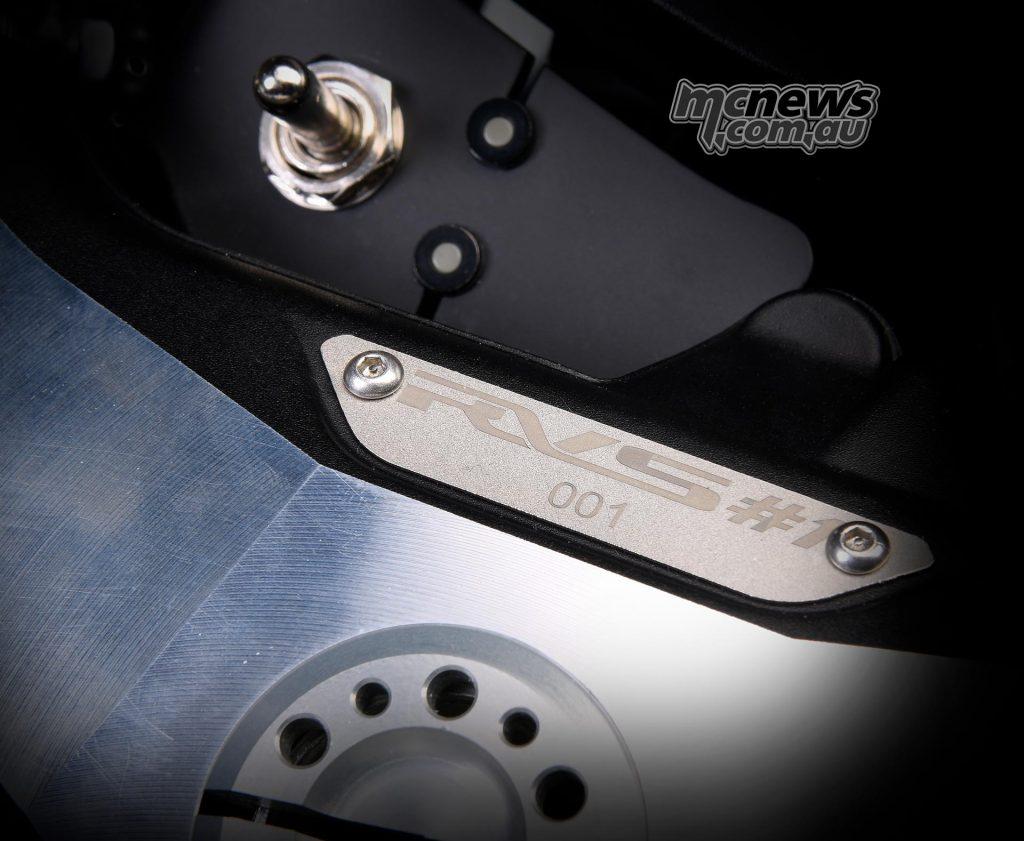 The titanium numbered plate