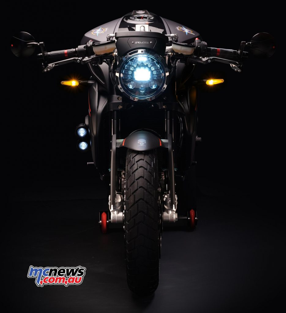The RVS#1 features the new adaptive LED headlight
