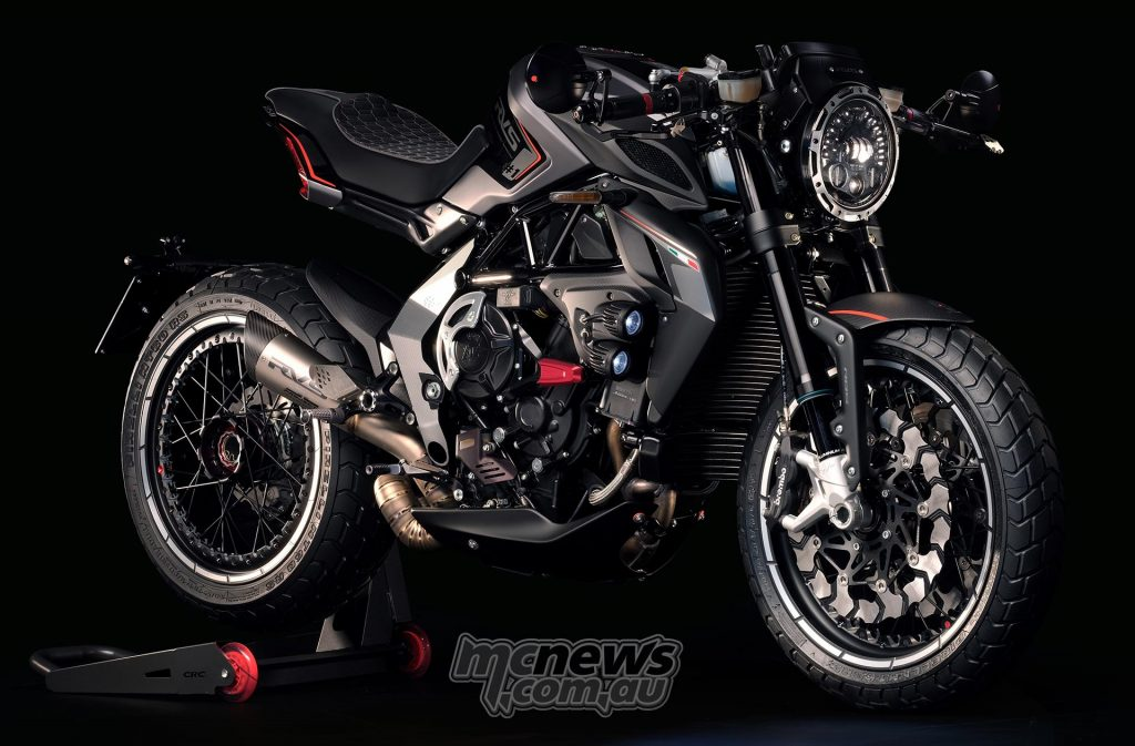 Featuring MV Agusta's 800cc triple-cylinder the RVS#1 offers 150hp