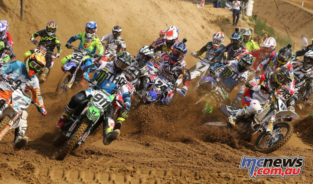 Tixier leading the 450MX field at Lombardia