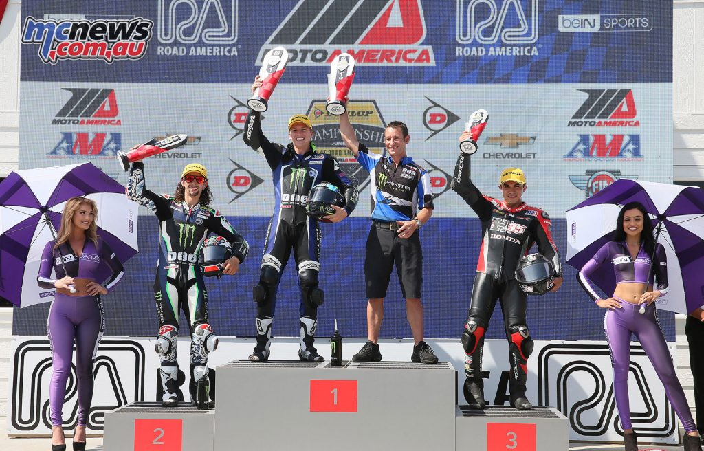 Race 1 Supersport podium - Image by Brian J. Nelson