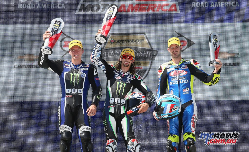 Supersport Race 2 Podium - Image by Brian J. Nelson