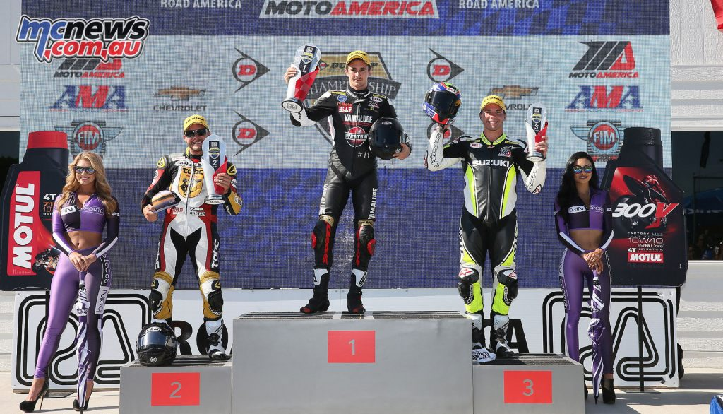 Superstock 1000 Race 2 Podium - Image by Brian J. Nelson